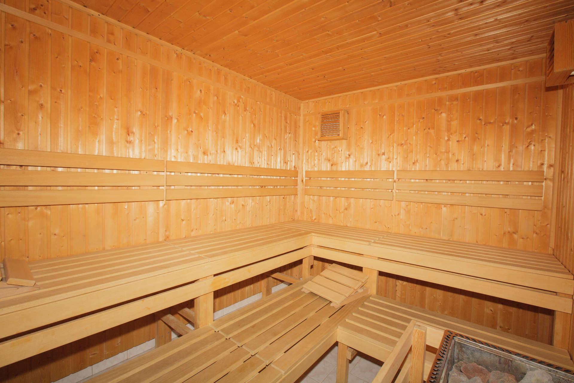 Prostory sauny – Pension Sport Poděbrady